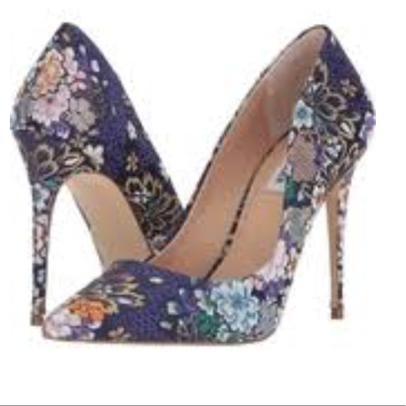 3a7e88e2b772 Steve Madden Daisie Blue Multi Heel Floral NEW